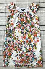 Perception Size 10 Women's Colorful Polka Dot Lined Knee Length Ruffle Dress