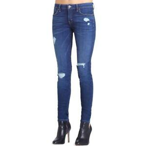 BCBGeneration Womens Denim Medium Wash Distressed Skinny Jeans BHFO 0742