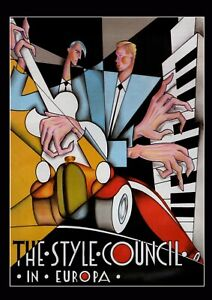 """Reproduction Alternate """"The Style Council - In Europa"""" Poster, Size A2"""