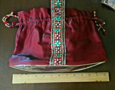 Indian Women Bridal Wedding  Purse Bead Evening Party Bag Clutch Potli Bag