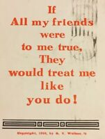 Postcard, 1910 Greeting Card, Friends, Sent 1916 Vintage P15
