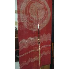 AA34, Japanese Noren, linen, door way curtain, red sun