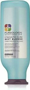 NEW!! PUREOLOGY STRENGTH CURE BEST BLONDE CONDITIONER 8.5 OZ SERIOUS COLOUR CARE