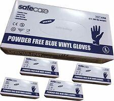 500 x Medium Blue Vinyl Safe Care Disposable Gloves Latex and Powder Free