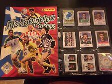 PANINI FOOTBALL 2002 PODOSFAIRO COMPLETE STICKERS SET + ALBUM RARE GREEK