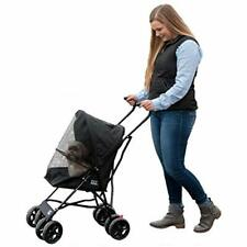 Sale Travel Lite Pet Stroller For Cats And Dogs Up To 15-pounds, Black Supplies