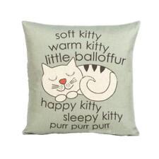 Vintage Cute Cat Sofa Bed Pillow Case Cushion Cover Festival Party Home Decor AU O#