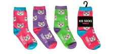 New Trumpette CAT Kid Socks  3 prs Size Med 4-7 yrs Girl gift Multi-color gift