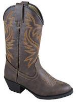 Smoky Children's Kid's  Del Rio Brown Distress Western Cowboy Boot
