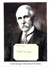 Franklin MacVeagh Autograph Secretary Treasury Pennsylvania Attorney General