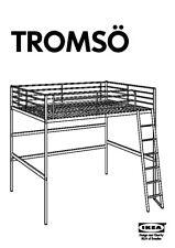 Loft Bed Frame single Ikea TROMSÖ /like SVÄRTA