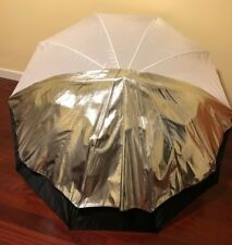 "Calumet 60"" Inch White and Silver Convertible Studio Umbrella"