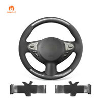 Suede + PU Carbon Fiber Steering Wheel Cover for Infiniti FX35 FX37 Nissan Juke