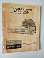 New Holland Grain Header 960 Operator's Manual With Assembly Information