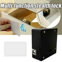 Keyless Door Locker Invisible Electronic Cabinet Rfid Private Hidden Drawer W7Z4