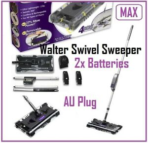 New Walter Swivel Sweeper MAX Cordless Floor Cleaner with 2 Batteries
