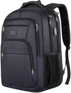 Laptop Backpack Men Padded Computer Bag Travel Work Anti Theft School Bookbag