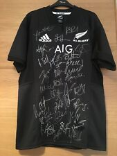 NEW ZEALAND ALL BLACKS SIGNED RUGBY SHIRT 2019 + PHOTO PROOF *SEE PLAYERS SIGN*