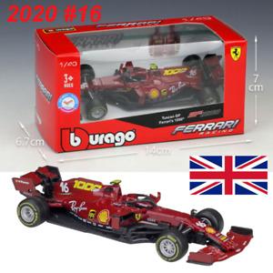 Bburago 1:43 F1 2020 Ferrari SF1000 Tuscan GP #16 C.Leclerc Diecast Car Model