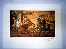 Salvador Dali Litografia 50 x 65 Bfk Rives Timbro a secco Firmata a Matita D045