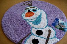 """DISNEY'S FROZEN """"OLAF"""" PURPLE 24"""" ROUND COTTON RUG"""