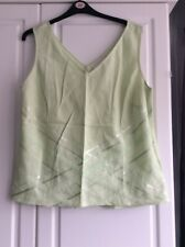Anne Harvey  Top 100% Linen  Size  22 Summer Holidays Apple Green New No Tags