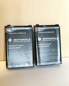 LOT OF 2 - Motorola ES400 Li-ion Batteries 3.7V 3080mAh 82-118524-01