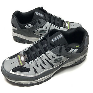 Skechers Energy After Burn Low Top Sneaker Shoes Gray Footwear Mens Size 14