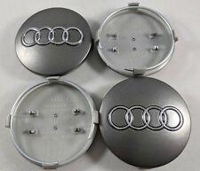 Audi Wheel Center Caps 60 mm Emblem Logo Hub Fit A3 A4 A5 A6 A8 S4 RS6 TT