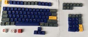 Tai hao Keycaps For Mechanical Keyboard Blue/Yellow/Grey Azure ANSI & ISO