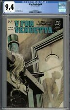 V For Vendetta #6 CGC 9.4 NM Alan Moore Story WHITE PAGES