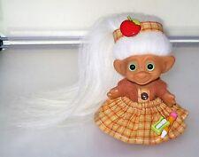 school daze! uneeda troll doll. new eyes & x-long natural mohair.