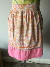 Vintage 50's/60 Handmade Cotton Waist Apron Pinny Floral Print  with Pocket