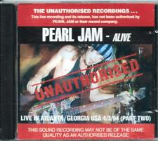 PEARL JAM *LIVE IN ATLANA 4/3/94 PART TWO* RARE 1994 OZ ONLY LIVE CD EXC.CON