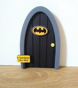 Batman inspired boys girls tooth/Christmas fairy/Elf door superhero