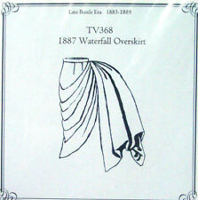 Truly Victorian Old West Waterfall Overskirt sewing pattern TV368 for 1887