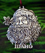 Idaho Santa Claus Christmas Tree Ornament | Christmas Tree Decorations in Pewter