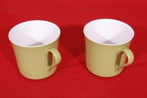 2 Vintage Oneida Plastic Mugs 3307 Clean