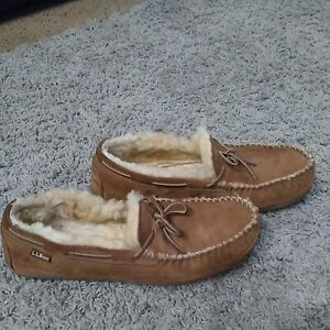 L.L. Bean Sheepskin Slippers Men's size 14