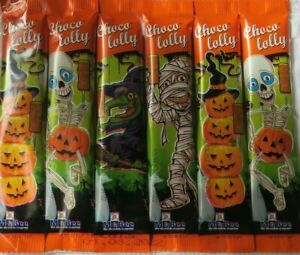 Halloween Sweets Choco Lollypops 6 Pack