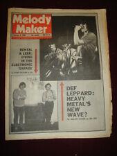 MELODY MAKER 1980 FEB 2 DEF LEPPARD ROBERT RENTAL THOMAS LEERY CLASH COSTELLO