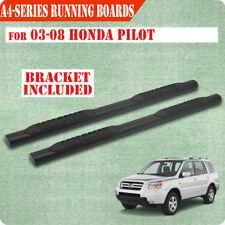 "For 03-08 Honda Pilot/01-06 Acura MDX 4"" Running Board Side Step Nerf Bar A BLK"