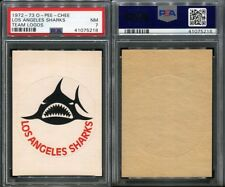 1972-73 O-PEE-CHEE OPC TEAM LOGOS LOS ANGELES SHARKS SP PSA 7 (5218)