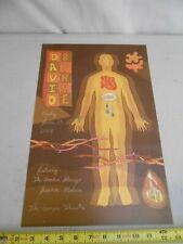 """Rare June 11 2004 David Byrne Talking Heads """" Cole Gerst """" Concert Poster Molina"""