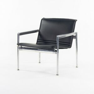 Prototype Richard Schultz 1966 Collection Polished Aluminum Leather Lounge Chair