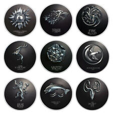 Set Us Metal Coin Game of Thrones Silver Challenge Coins for Collection 9pcs/lot