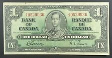 1937 Bank of Canada 1 Dollar Banknote, P-58d.
