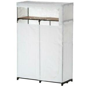 Portable Closet 46 in. W x 69 in. H Rust-Resistant Breathable Steel White