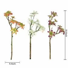 """Set of 3 18"""" tall Assorted Faux Succulent Picks Sprays Stems Wedding Decorations"""