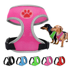 Adjustable Dog Harness Reflective Puppy Vest Mesh Harness for Small Large Dogs